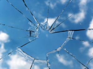 Hole on a glass window