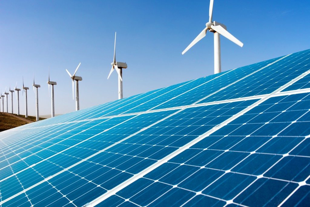 Wind generator and solar panel