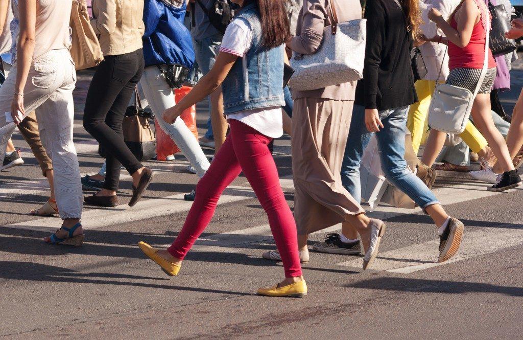 classy pedestrians